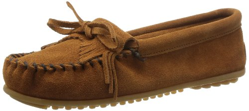 Minnetonka - Kilty Suede Moc, Mocassino da donna Marrone (Blue / Metal 70)