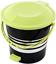 Kuber Industries Plastic Dustbin Garbage Bin with Handle, 5 litres (Green) -CTKTC043060