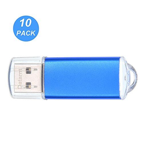 Datarm 10pcs 2GB USB-Stick 2.0 Klein Flash-Laufwerk Blau Geschenk (2 Gb Usb-flash-laufwerk-pack)