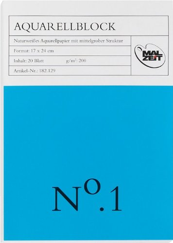 182132-2 - Doppelpack : Aquarellblock No. 1 - 24 x 32 cm - 20 Blatt - 200 g/m²