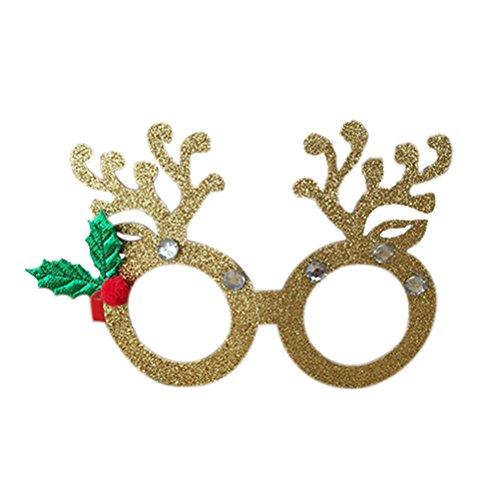 SUPVOX Weihnachten Brillengestelle, Gläser Dekor für Kinder Familie Xmas Party Ornament Geschenk...