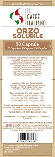 50 Gerste Kapseln mit dem Nespresso-System kompatibel - Il Caffè Italiano