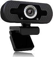 1080p webcam met microfoon, Full HD 1080p / 30fps videogesprekken, heldere stereo-audio, voor desktop-pc, MAC,