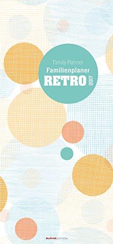 Preisvergleich Produktbild Familienplaner Retro 2017 - Familientermine / Familientimer (21 x 45) - 5 Spalten - Wandplaner