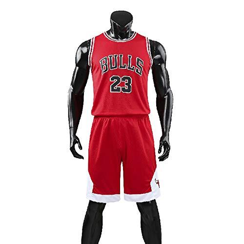 OLIS Herren NBA Michael Jordan # 23 Chicago Bulls Retro Basketball Shorts Sommer Trikots Basketballuniform Top & Shorts Basketball Anzug(L-7XL)