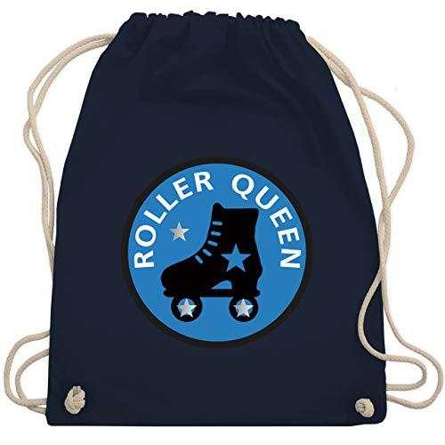 Vintage - Roller Queen Rollschuh - Unisize - Navy Blau - WM110 - Turnbeutel & Gym Bag (Gym Bag Roller)