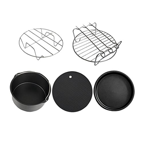 Fenteer 5 Stück Universal Luftfritteuse Zubehör für Friteuse