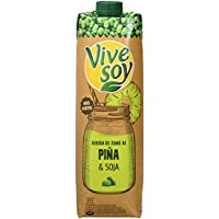 Vivesoy Zumo de Piña y Soja - 8 Recipientes de 1 l - Total: 8