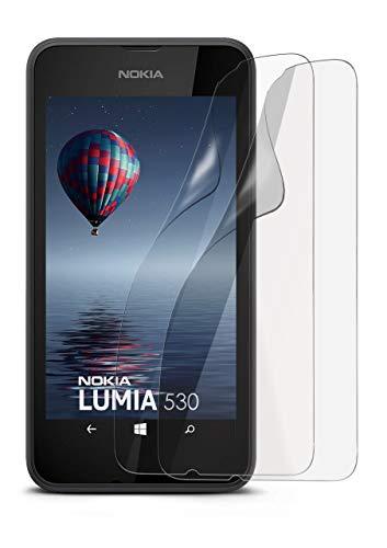 2X Nokia Lumia 530 | Schutzfolie Matt Display Schutz [Anti-Reflex] Screen Protector Fingerprint Handy-Folie Matte Displayschutz-Folie für Nokia Lumia 530 Dual SIM Displayfolie (Lumia530 Dual-sim)