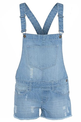 Neue Mädchen Denim Latzhose Shorts Overall Alter 7-13