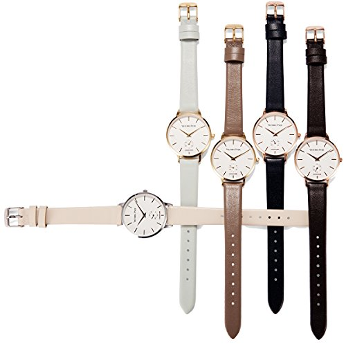 victoria hyde ladies quartz watches with clear white dial analogue display replaceable genuine leather strap waterproof for women gift