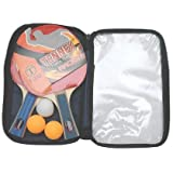 Playking Tennex Table Tennis Racket T-333, 1 Pair Of Racket With 1 Bag And 3 Balls