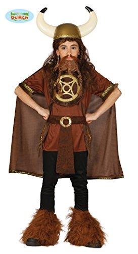 Wikinger Kostüm für Kinder Gr. 110-146, Größe:128/134