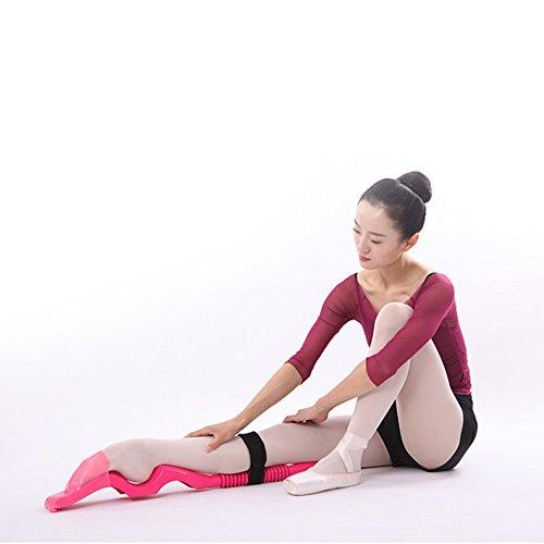 Wuudi Abnehmbarer Fuß-Stretcher, Tanzzubehör, für lateinamerikanische Tänze, Ballett etc, Übungszubehör für den Spann und das Dehnen der Bänder.