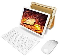 Idea Regalo - YESTEL Tablet 10 Pollici con wifi offerte Android 8.1 Tablet PC con 3GB RAM & 32GB ROM e LTE Dual SIM Call, 5.0 MP + 8.0 MP HD Camera e 8000mAH (Sblocco Facciale,Supporta Netflix) -Dorato