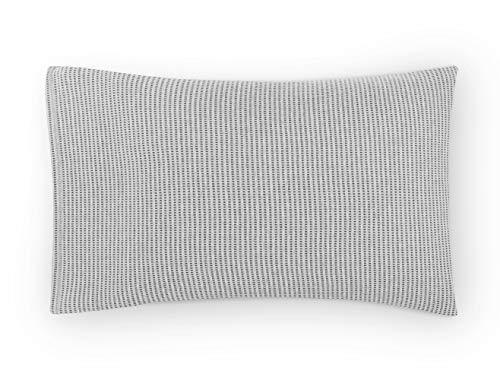 Calvin Klein Jared Standard - Par de Fundas de Almohada, Gris Jaspeado/Carbón, 75x50 cm, 2