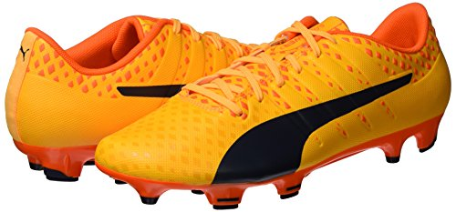 Puma Men s Evopower Vigor 3 FG Football Boots  Ultra Yellow-Peacoat-Orange Clown Fish 04   6 5 UK