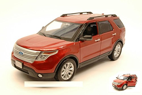MOTORMAX MTM73186R FORD EXPLORER XLT 2015 RED 1:18 MODELLINO DIE CAST MODEL