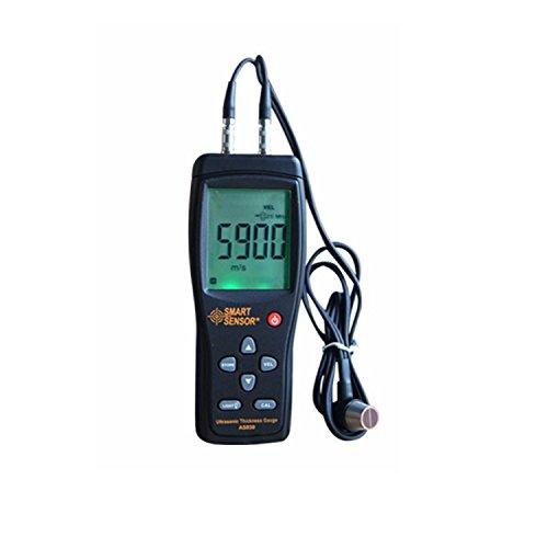 Preisvergleich Produktbild Lcd-Digital-Ultraschall-Stärken-Messgerätprüfvorrichtung AS850 1.2 bis 220MM Schallgeschwindigkeits-Meter für Stahlaluminiumplatte