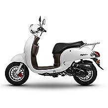 Retro Roller CityCruiser 25 km/h Mofa perlweiß Motorroller Scooter Moped Cruiser weiß