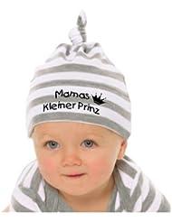 Baby Mütze bedruckt mit MAMAS KLEINER PRINZ / in 9 Farben