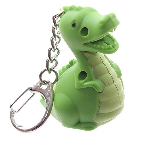 PK Green Llavero lámpara LED con forma de animal con sonido y luz - Dinosaurio