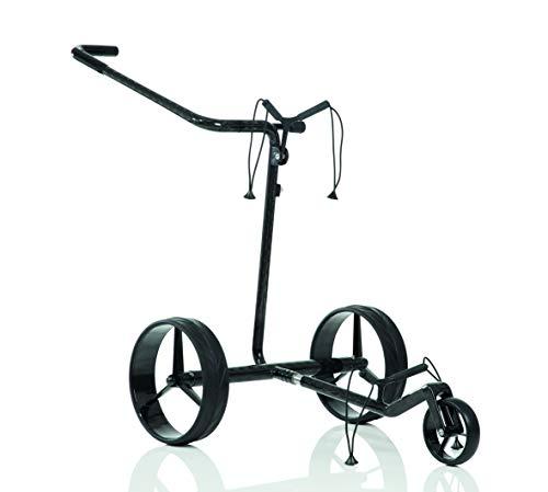 JuCad Carbon Classic Golf Trolley I Golf Caddy I Elektrisch I Elektrocaddy -