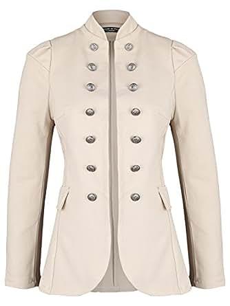 Damen Blazer Militäry Style ( 513 ), Farbe:Beige, Blazer 1:36 / S