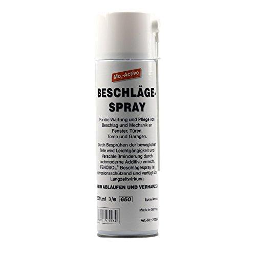 FENOPLAST Fenosol Beschlägespray 500 ml für die Wartung und Pflege von der Mechanik an Fenster, Türen, Toren und Garagen