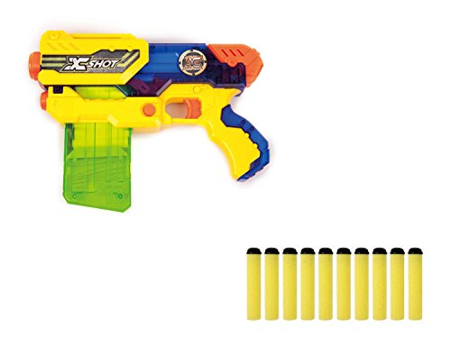 Preisvergleich Produktbild Zuru X-Shot Hurricane Clip Blaster - Spielzeug-Blaster mit Softpfeil-Magazin + 10 Soft-Darts Pistole mit Pfeilen