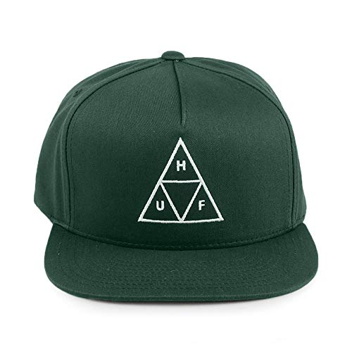 Imagen de huf  snapback triple triangle verde  ajustable alternativa