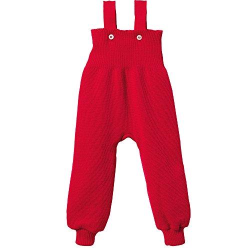 disana Baby/Kleinkinder Strick-Trägerhose aus Bio-Schurwolle (74/80, Rot-A)