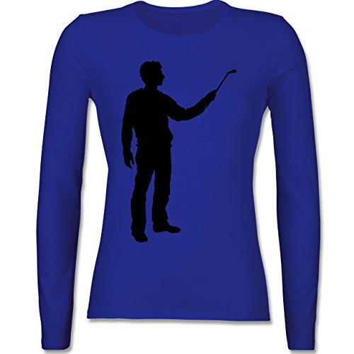 Handwerk - Maler - tailliertes Longsleeve / langärmeliges T-Shirt für Damen Royalblau