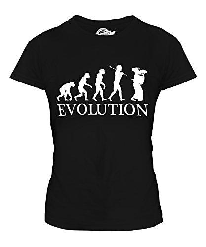 CandyMix Geisha Evolution Des Menschen Damen T Shirt, Größe Large, Farbe Schwarz