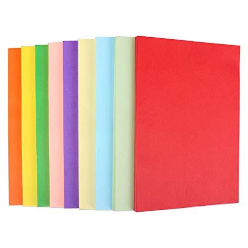 STOBOK color paper-cut DIY handgemachtes farbiges Papier für Kinder aus Origami Größe A4 100 Stück (gemischte 20 Farbe) (Papier Tasche Kostüm)