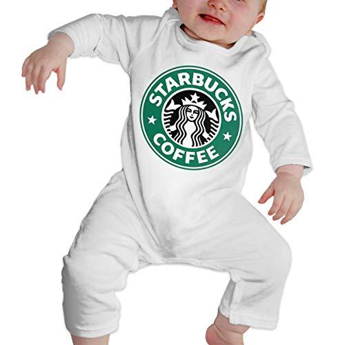 Kinder Baby Mädchen Jungen Bodys T-Shirt Starbucks Logo T Shirt Shirts Für Kleinkind Mädchen Jungen Langhülse Weiß 18 Mt -