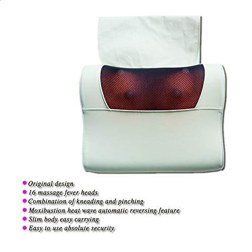Cuscinetto antivibrante per schiena e coscia con massaggio shiatsu con calore cuscino poltrona con strato di protezione profondo tessuto impastatore