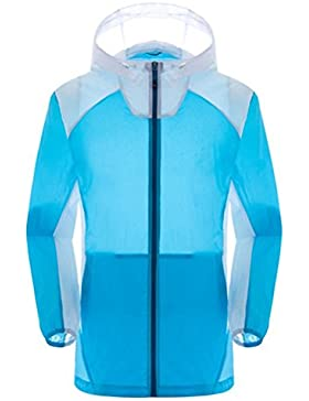 Zhhlaixing Clásico Mens Dry Quickly Skin Sports Jackets Hooded Thin Lightweight Waterproof Outerwear