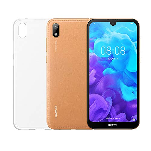Foto Huawei Y5 2019 (Marrone) più cover trasparente, Telefono con 16 GB, Display...