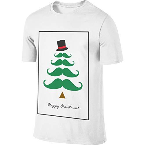 urrbart-Baum-glückliches Weihnachtsmänner Kurzarm-T-Shirt magischer Baum-Haus-Buch-Satz T-Shirts Tee-Baum-Wachs-Mensoberteile weißes 3XL ()