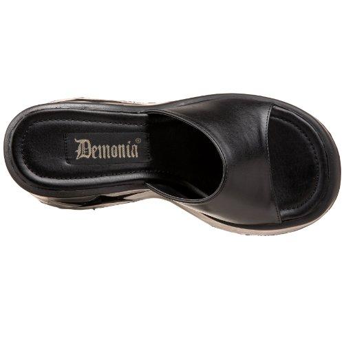 Demonia DYNAMITE-01 DYN01/B/PU Blk Vegan Leather