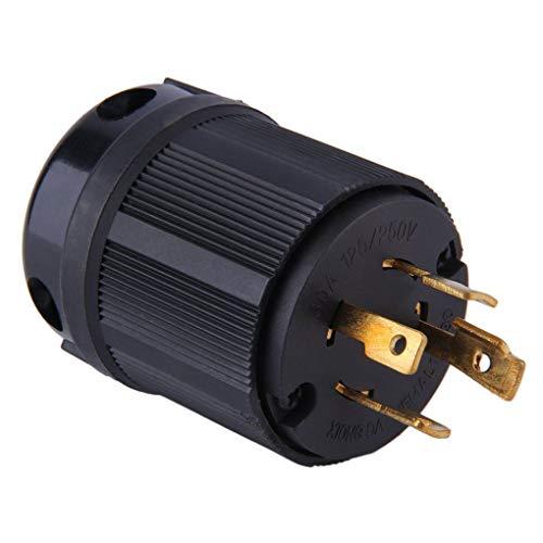 Verriegelung Twist-lock-stecker (BeIilan Schwarz Outdoor Hot Strom Locking NEMA L14-30P Twist-Lock-Stecker 30A 125-250V 3P 4W US-Stecker)