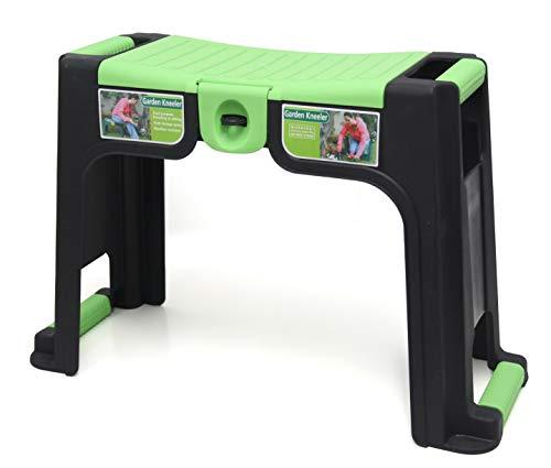 Tec Hit 390025Sgabello di giardinaggio con poggia ginocchia Verde/Nero