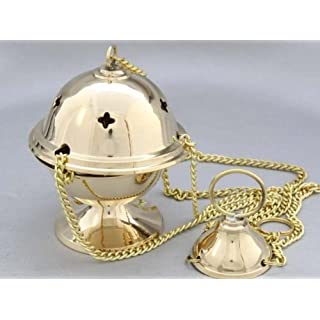 Thurible in polished brass