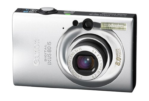 Canon Digital IXUS 80 IS Digitalkamera (8 Megapixel, 3-fach opt. Zoom, 6,4 cm (2,5 Zoll) Display, Bildstabilisator) silber