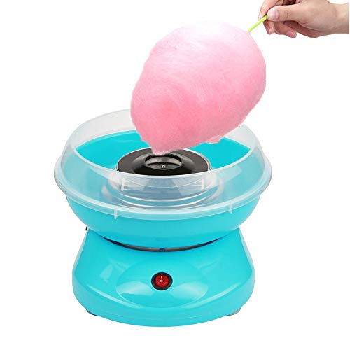 KingSaid Zuckerwattemaschine Zuckerwatte Maschinen für Kinder Zuhause Retro Cotton Candy Machine Blau (Für Zuckerwatte-maschinen Kinder)