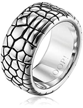 Joop Damen-Ring Edelstahl mit Animalprint