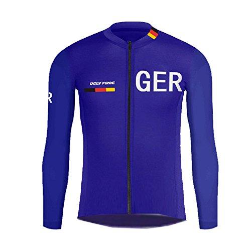 Uglyfrog Herren Radsport Trikot Langarm Radfahren Shirt Fahrrad Sportshirt