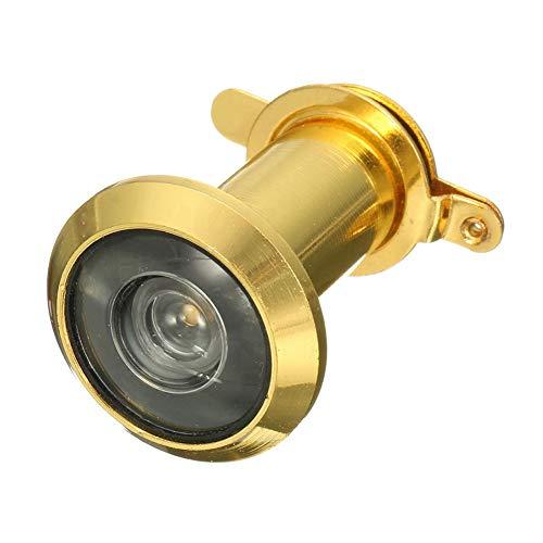 armine88 Visor de Puerta Casa Antirrobo Aleación de Zinc Eye Spy Lente Duradera Hardware Cubierta de privacidad Mirilla de Seguridad Ajustable para el hogar de 200 Grados Gran Angular(Oro)