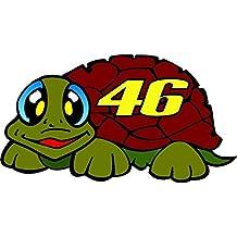 Adhesivo Pegatina Adhesivo Sticker tortuga 46The Doctor Valentino Rossi VR46Yamaha 10cm Aufkleber autocollant